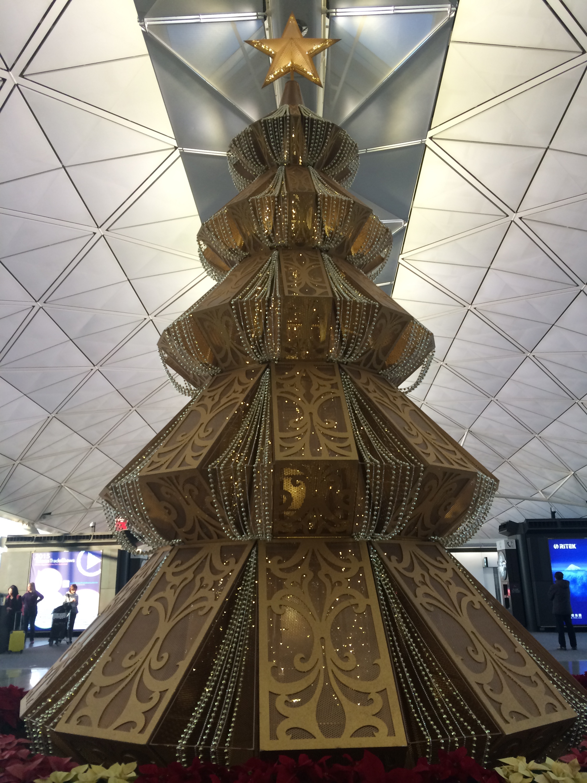 The Hong Kong International Airport was beautifully decorated for the holidays.