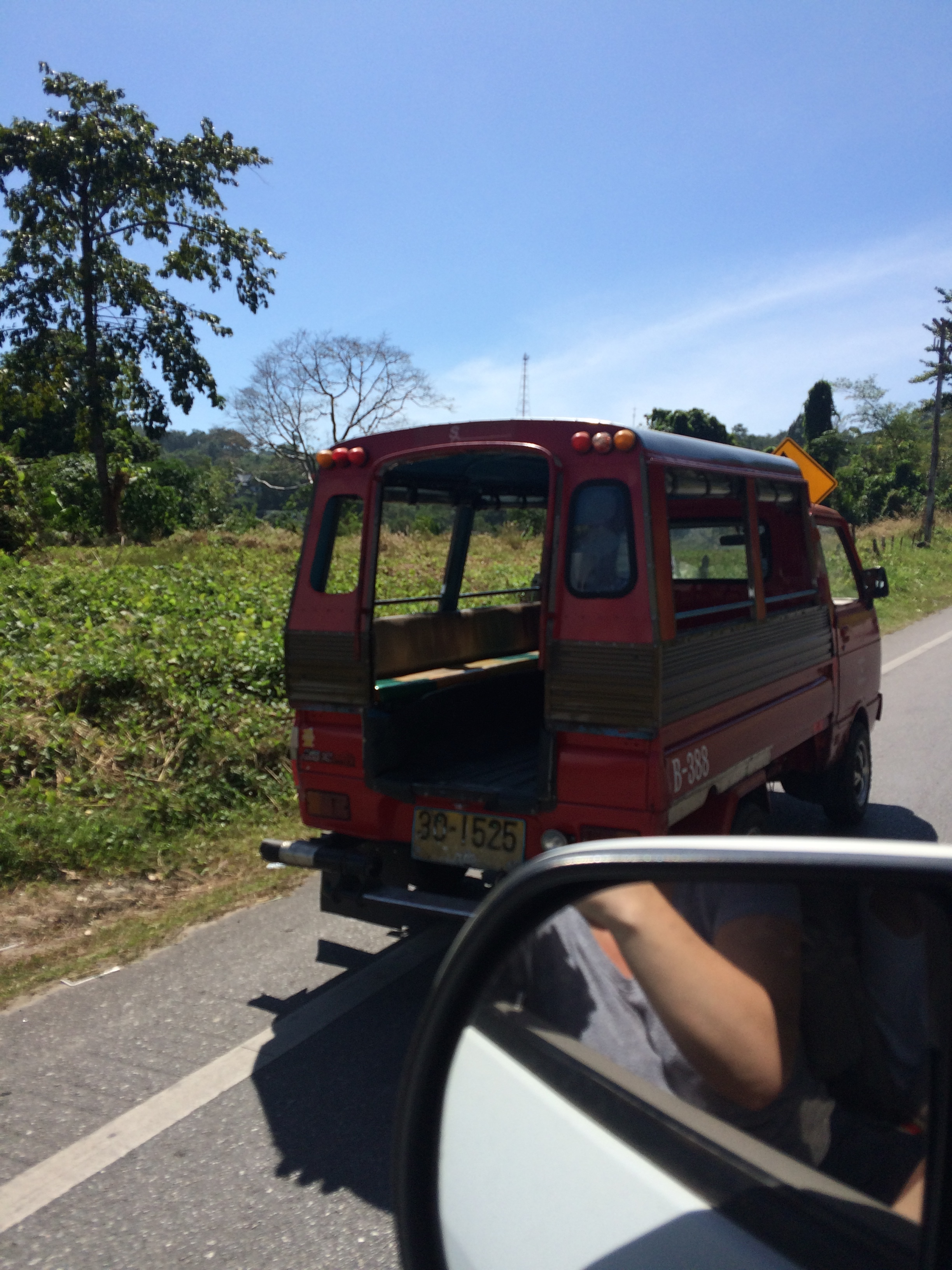 These adorable little taxis are usually found in Patong, but every once in a while we pass them on the road
