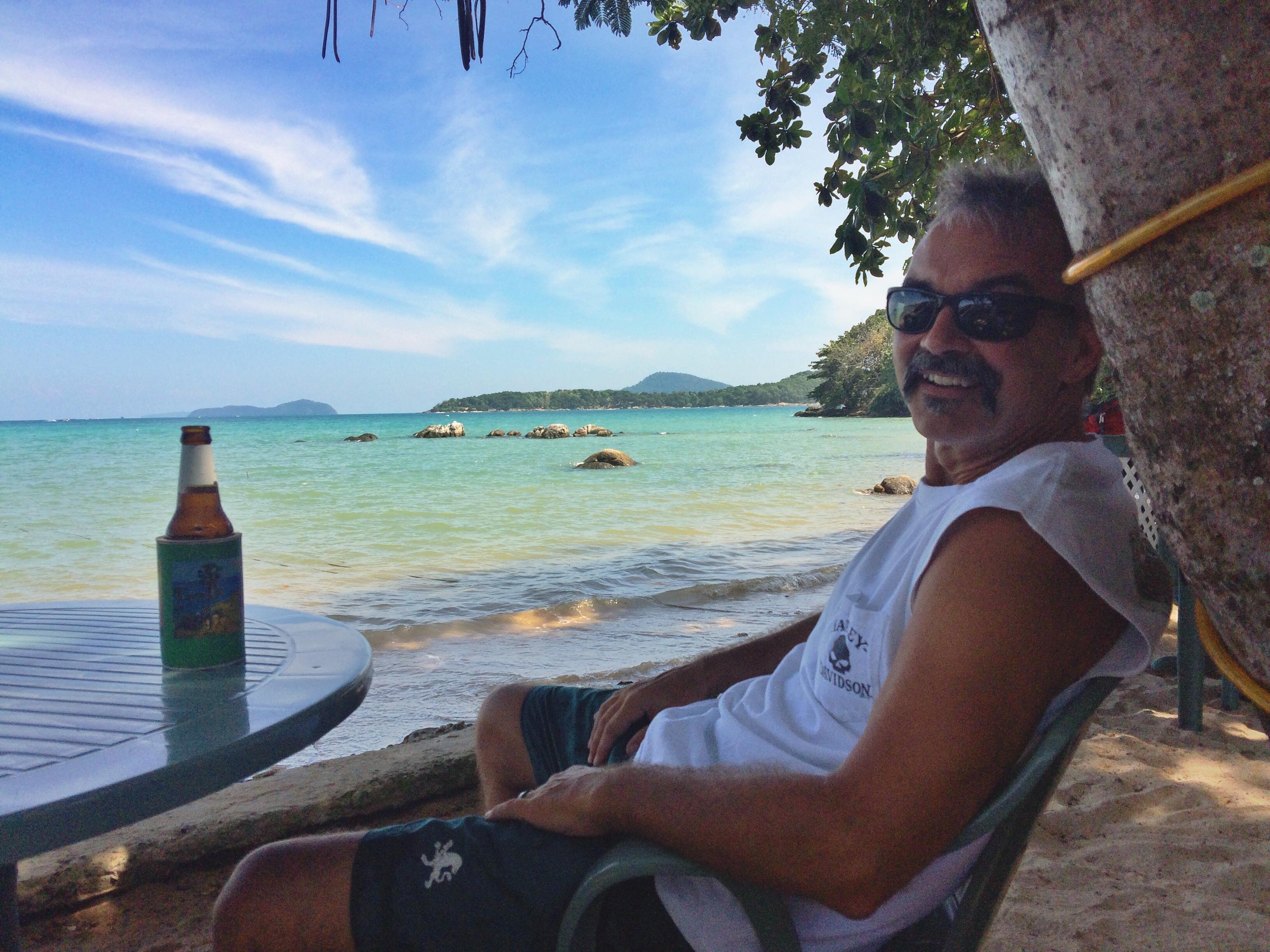 Dad in paradise