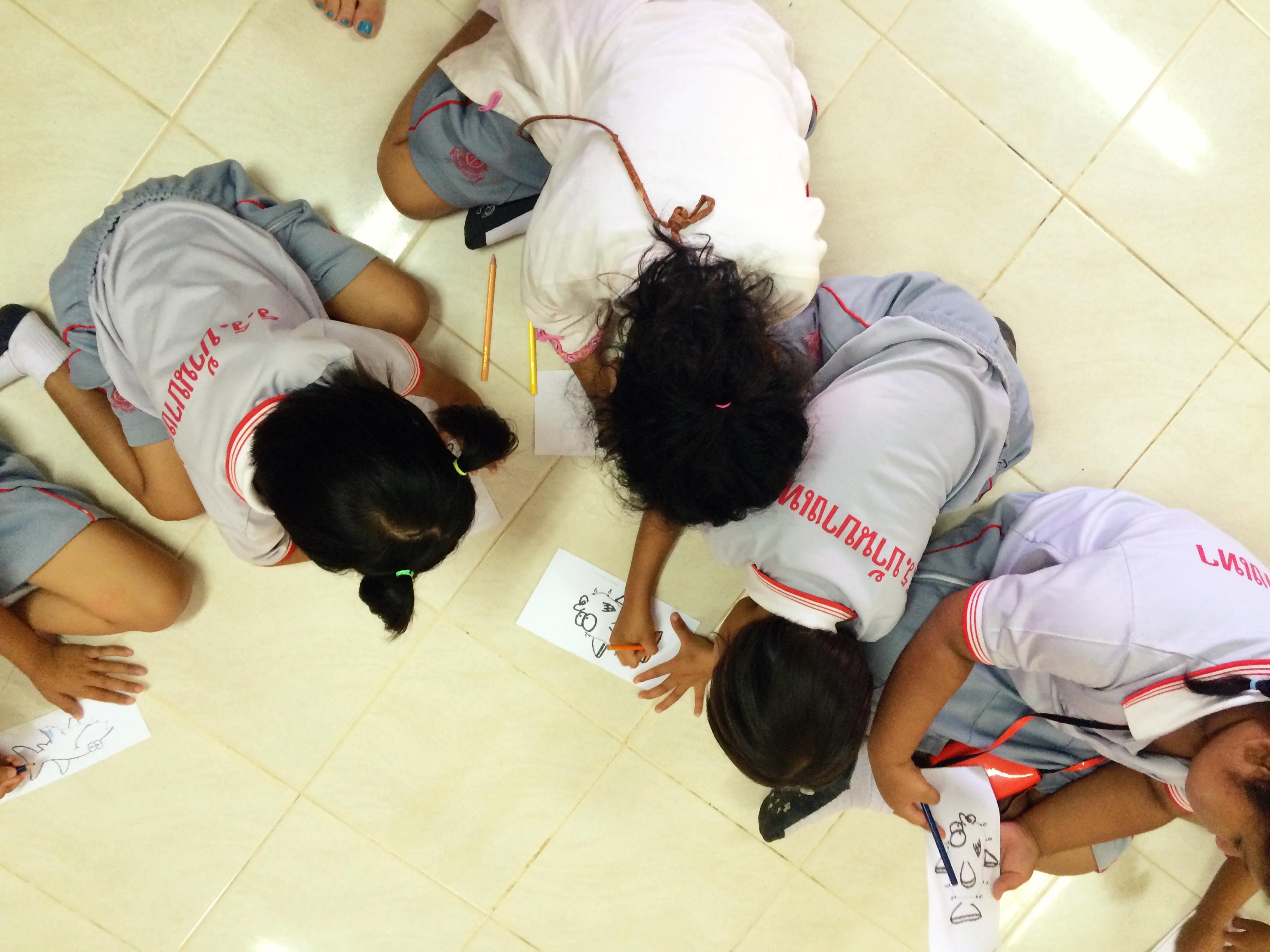 Teaching the kiddies at the Bangtao Public School