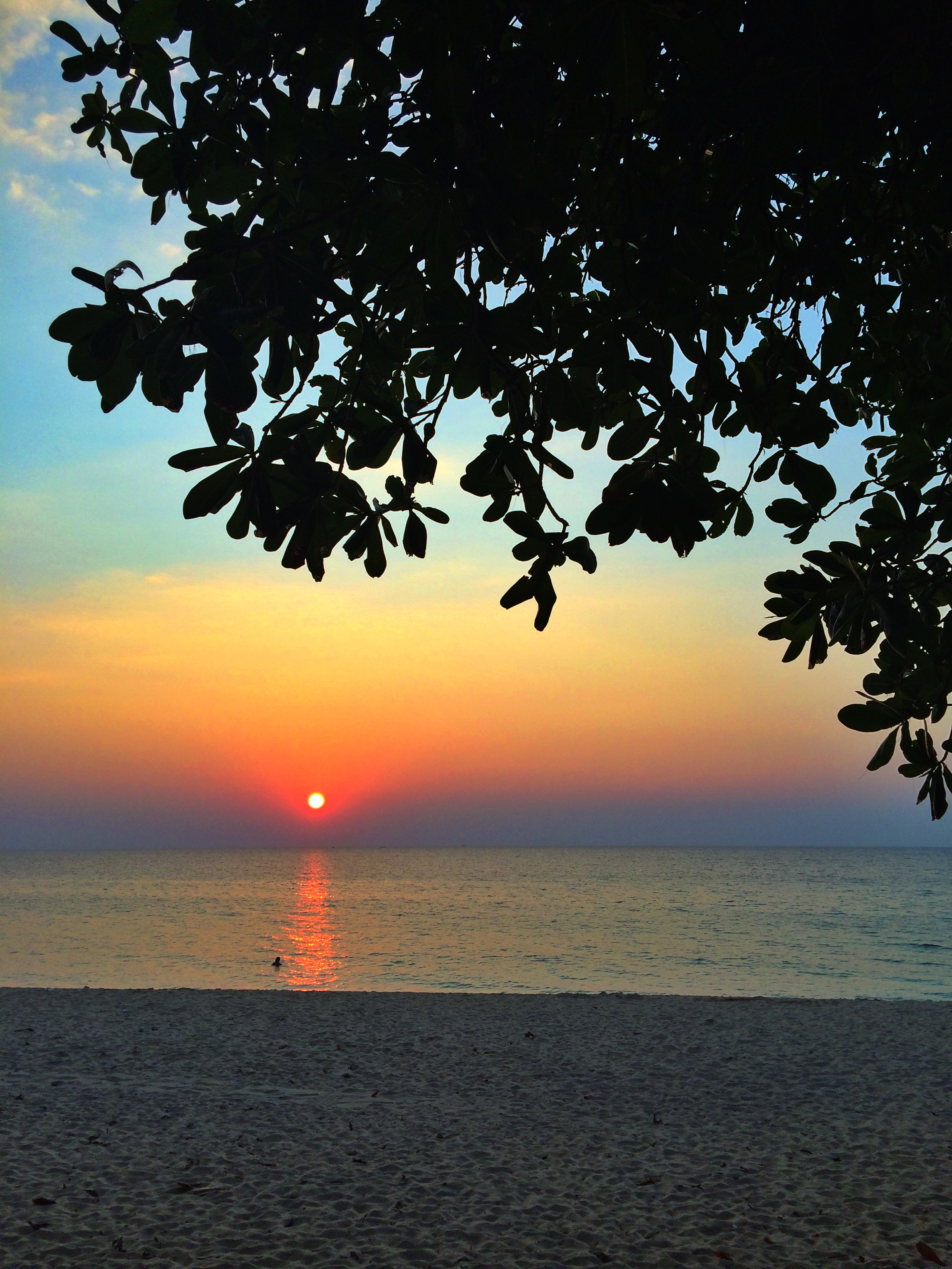 One of the sunsets we watched at Surin Beach