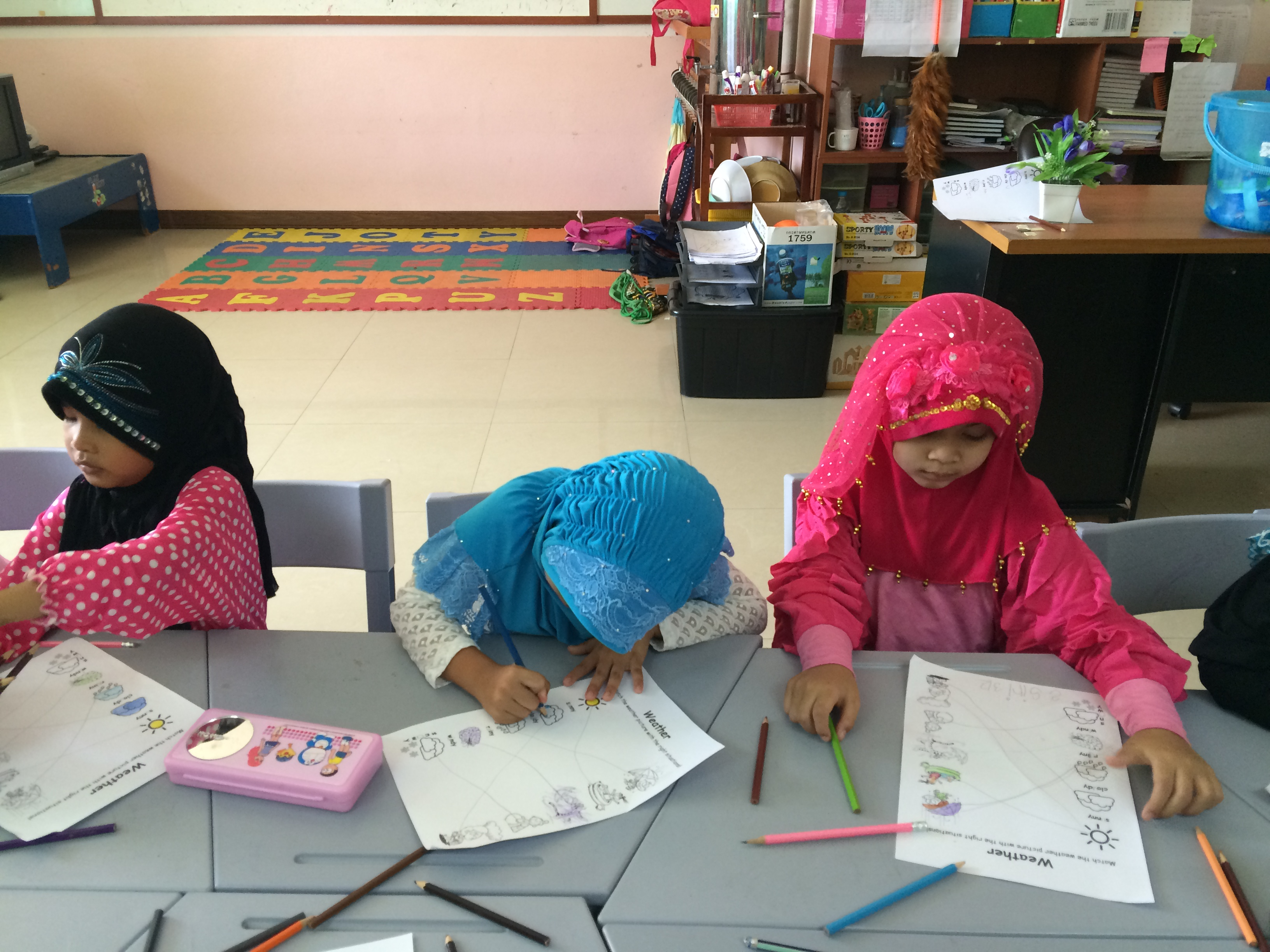 learning about weather at the muslim school
